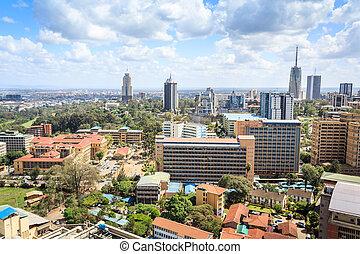 Nairobi cityscape - capital city of Kenya, East Africa