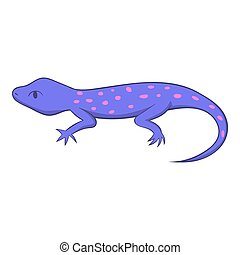 Spotted lizard icon, cartoon style - Spotted lizard icon....
