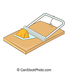 Mousetrap icon, cartoon style - Mousetrap icon. Cartoon...