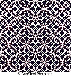 Seamless background image of vintage purple round square cross geometry pattern.