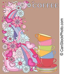 coffee advert - a vector illustration in eps 8 format of a...