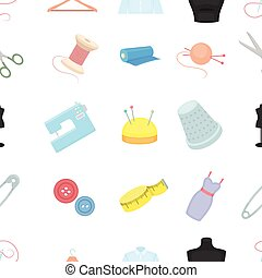 Atelie pattern icons in cartoon style. Big collection atelie vector symbol stock illustration