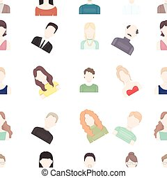Avatar pattern icons in cartoon style. Big collection avatar...