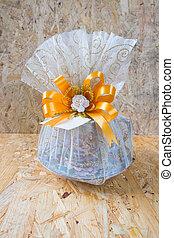 Benjarong bowl in bag net for Thai wedding souvenir
