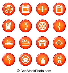 Car maintenance and repair icons  set