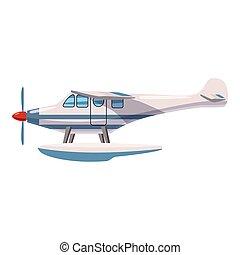 Hydroplane icon, cartoon style - Hydroplane icon. Cartoon...