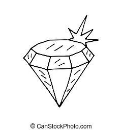Diamond icon. Vector