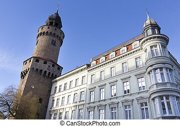The Reichenbacher Turm tower in the town of Goerlitz,...
