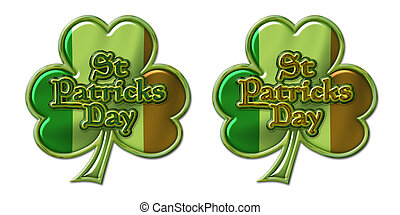 St Pats Clover Flag and Lettering