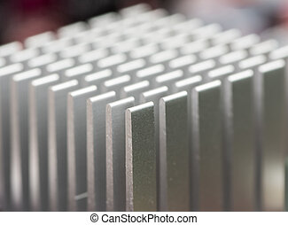 Detail of a heatsink from a computer motherboard