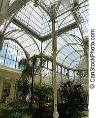 Indoor glasshouse in Madrid