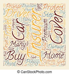 Insurance Explained text background wordcloud concept