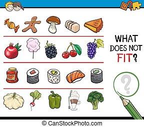 find improper image worksheet - Cartoon Illustration of...
