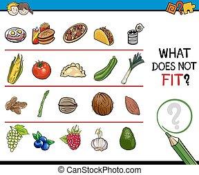 find improper picture worksheet - Cartoon Illustration of...