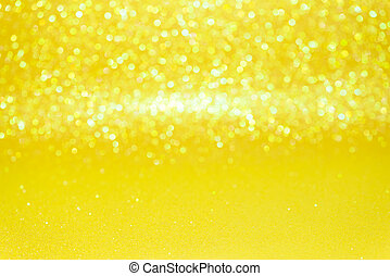 abstrakt, gul,  bokeh,  Defocused, bakgrund,  glitter