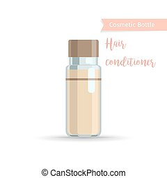 Hair conditioner cosmetics bottle - Cosmetics bottle product...