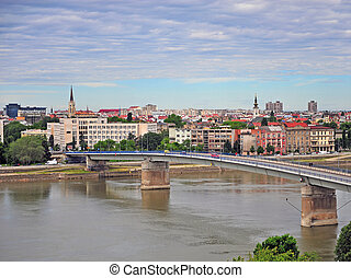 View of city centre of Novi Sad, Serbia