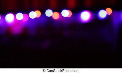 Christmas background with colorful lights blurred