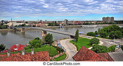Panoramic view of Novi Sad city - Panoramic view of Novi...