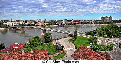 Panoramic view of Novi Sad city - Panoramic view of Novi...