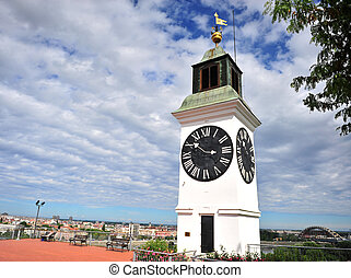 Novi Sad historical tower, symbol of the second largest city...