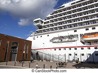 Docked In Halifax - The cruise liner docked in Halifax city...