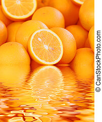 orange - a group of orange