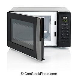 Microwave oven - White microwave oven isolated on white