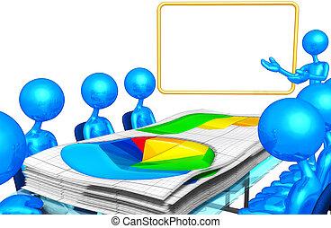 empresa / negocio, informe, reunión