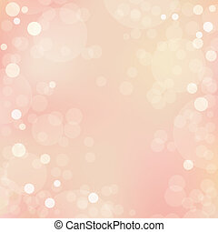Beautiful Vector Background With Bokeh - Abstract Beautiful...
