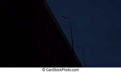 Going under the bridge at night - thriller effect hd