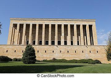 Anitkabir mausoleum of Mustafa Kemal Ataturk in Ankara,...