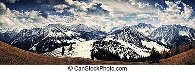 Gampalp - Austria - Phantastic panorama view at the...