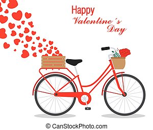 Great card for Valentine's Day. Cute bike with hearts.