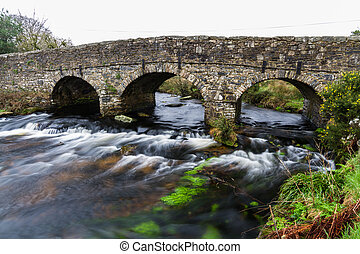 Old Road bridge - Road Bridge Bridge. Postbridge, Dartmoor,...
