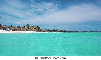 Cuba. Caribbean Sea. Cayo Largo. Beach. - Azure water...