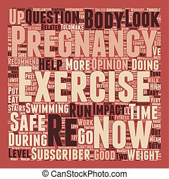 Is Your Pregnancy Exercise SAFE for baby text background wordcloud concept
