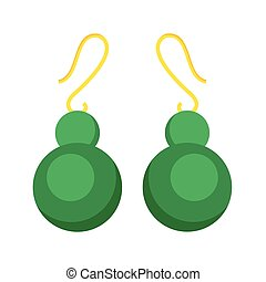 Earrings beautiful accessory isolated vector. - Earrings...