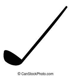 Golf clubs icon, simple style - Golf clubs icon. Simple...