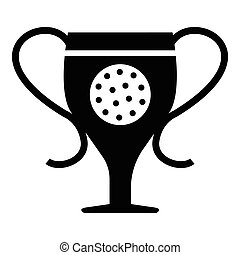 Cup golf icon, simple style - Cup golf icon. Simple...