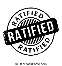 Ratified rubber stamp. Grunge design with dust scratches....
