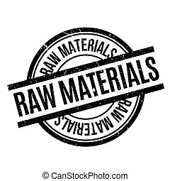 Raw Materials rubber stamp. Grunge design with dust...