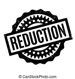 Reduction rubber stamp. Grunge design with dust scratches....