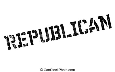 Republican rubber stamp. Grunge design with dust scratches....