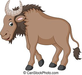 Illustration of a Wildebeest cartoon
