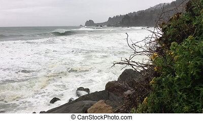 California Coast Rainy Day Highway 101 - California Coast...