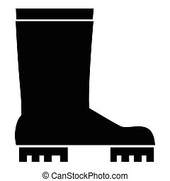 Rubber boots icon, simple style - Rubber boots icon. Simple...