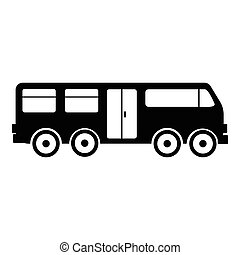 Electric train icon, simple style - Electric train icon....