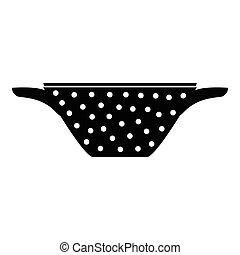 Colander icon, simple style - Colander icon. Simple...