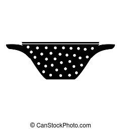 Colander icon, simple style - Colander icon. Simple...